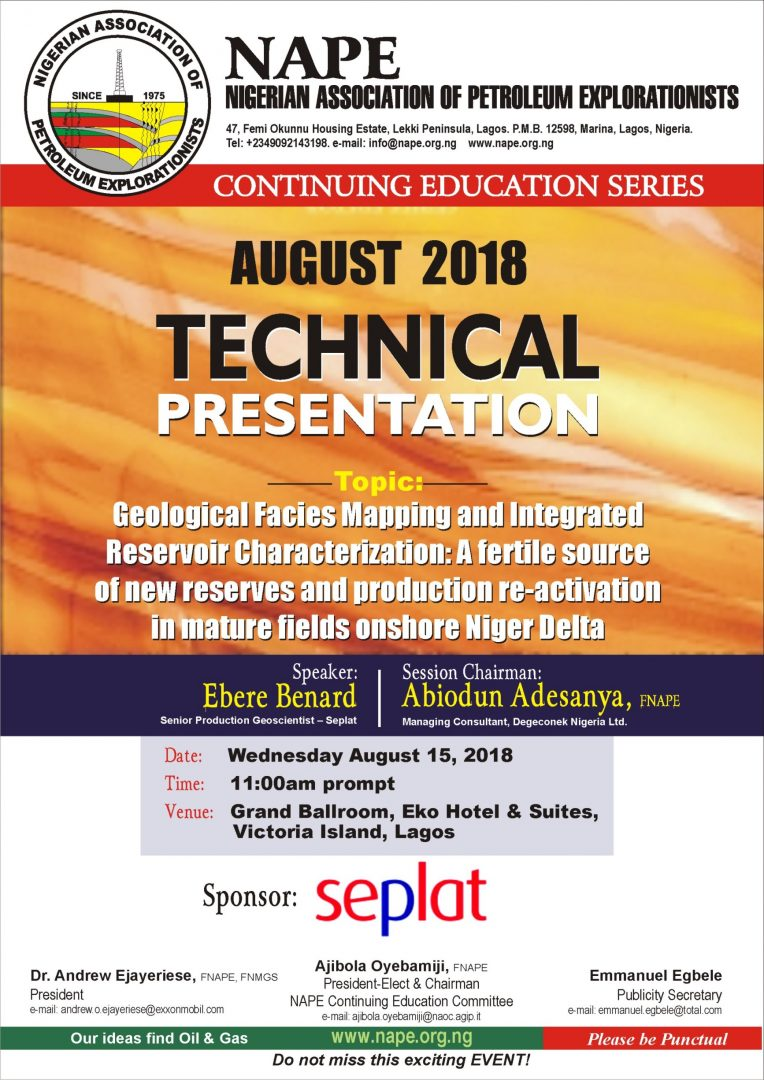 Technical Meeting E Poster for August 2018 Lagos