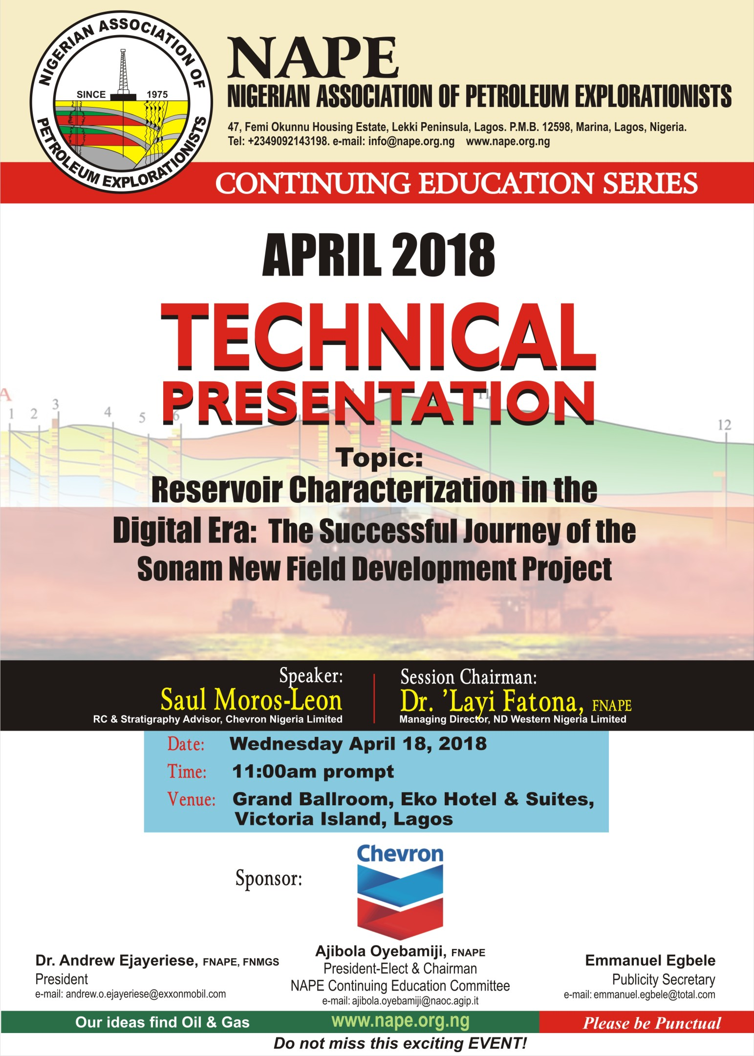Technical Meeting E Poster for 18April 2018 Lagos