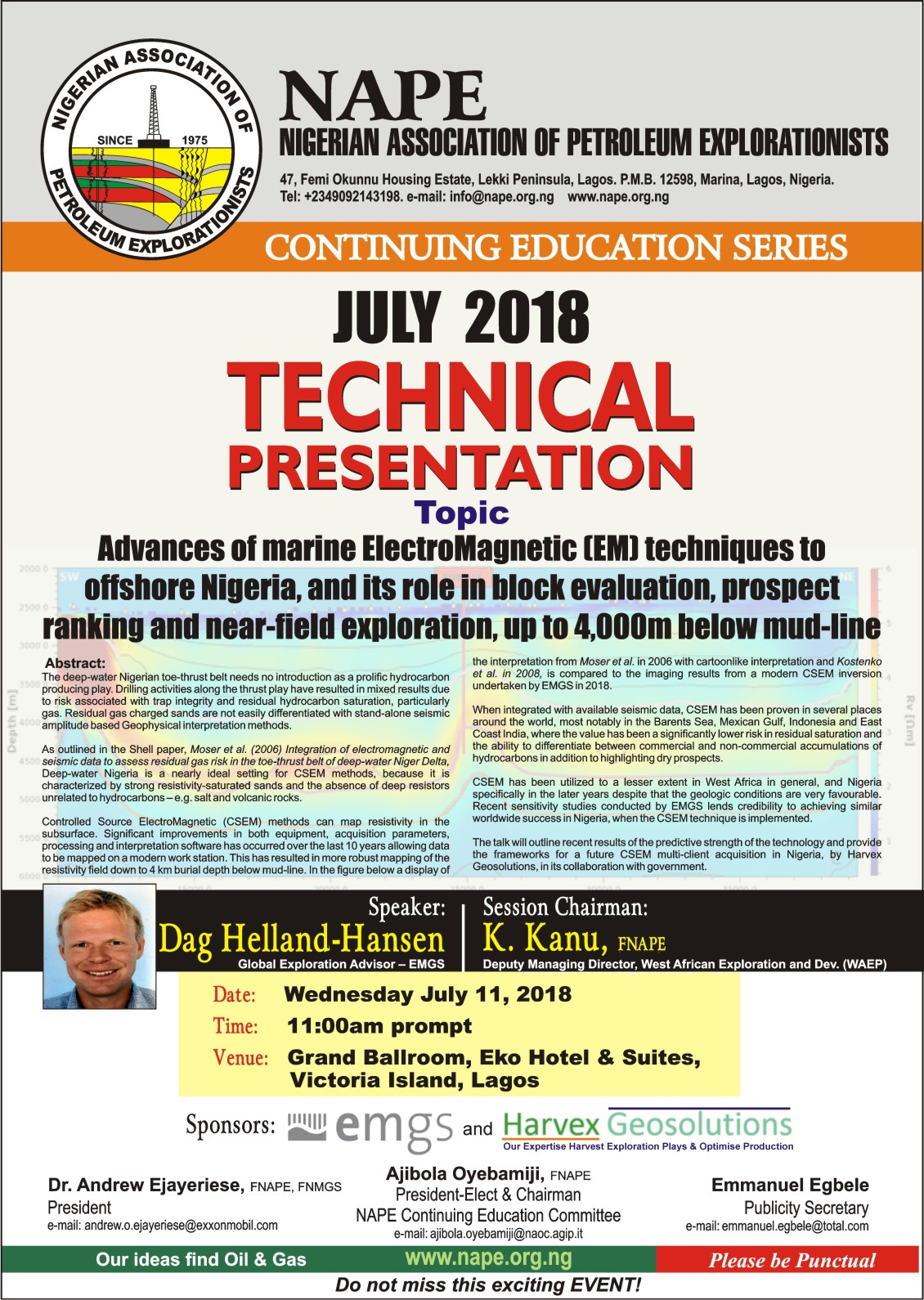 Technical Meeting E Poster for July 2018 Lagos