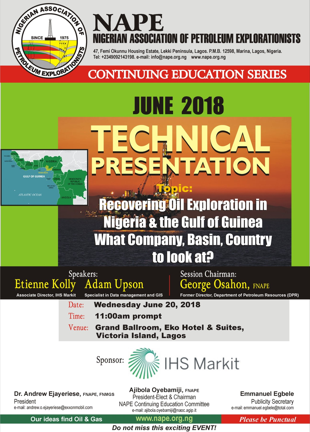 Technical Meeting E Poster for June 2018 Lagos