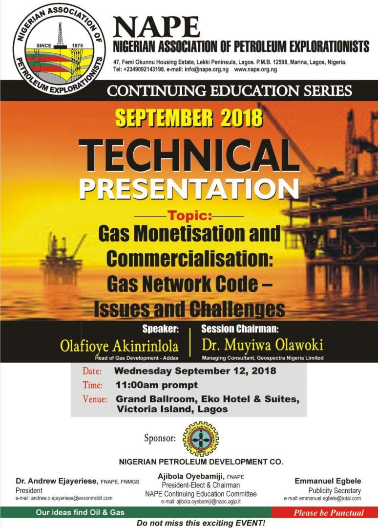 Technical Meeting E Poster for September 2018 Lagos1